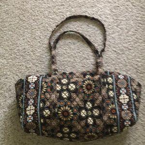 Vera Bradley women's brown duffel bag